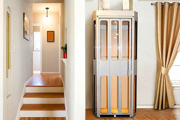 Giải pháp thang máy cho ngôi nhà diện tích nhỏ Thang-may-mini